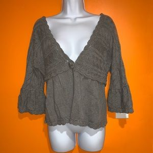 Juicy couture gray cardigan sweater small